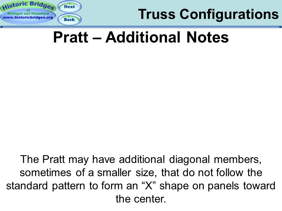 Truss Configs – Pratt Notes