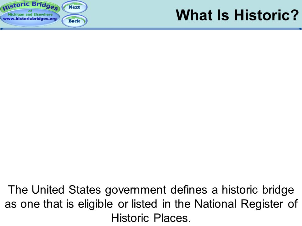 What is Historic - Government