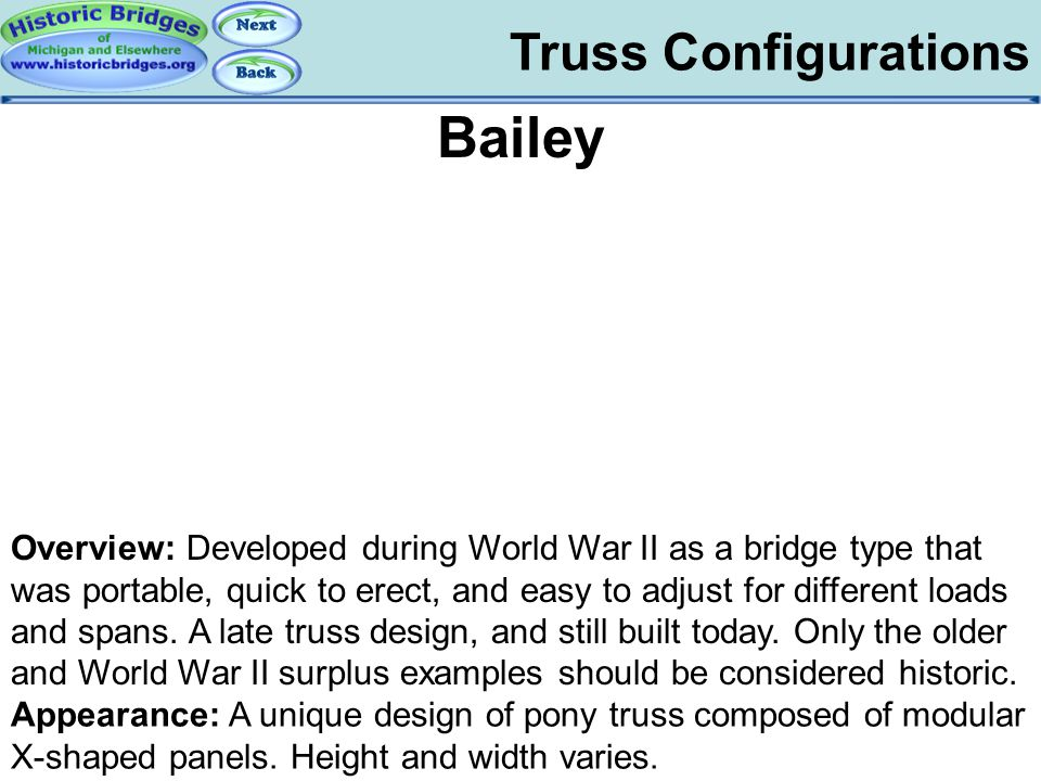Truss Configs - Bailey Bailey Truss Configurations