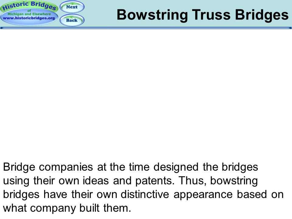 Bowstring: Patents Bowstring Truss Bridges