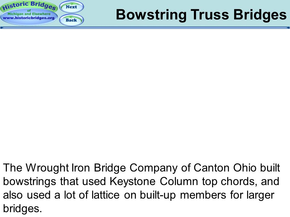 Bowstring: WIBC Bowstring Truss Bridges