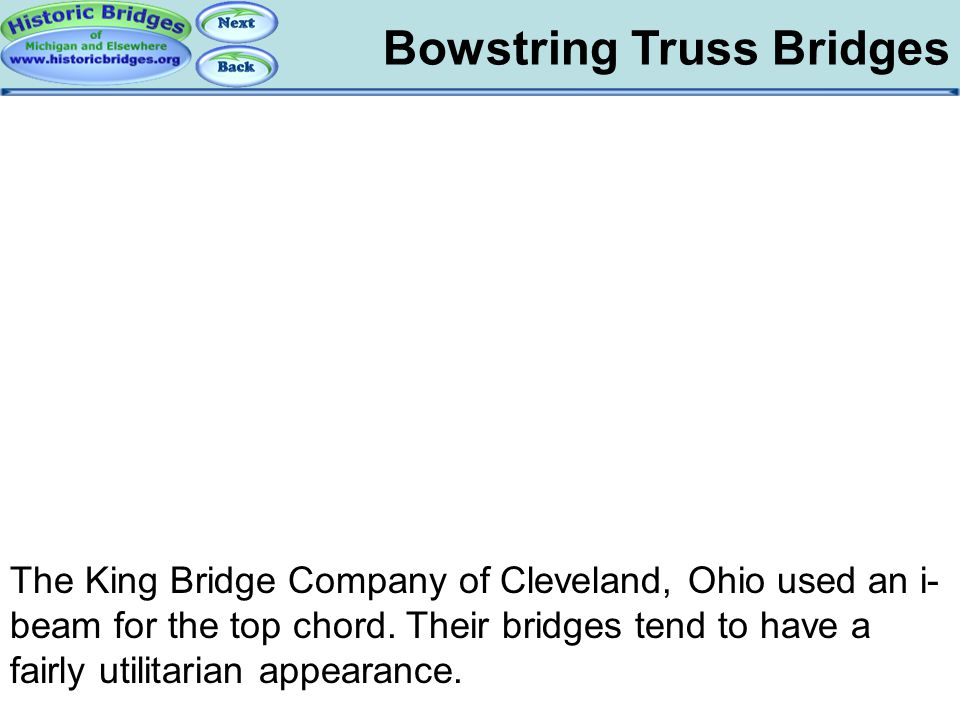 Bowstring: King Bowstring Truss Bridges