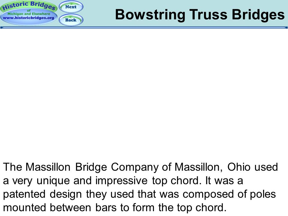 Bowstring: Massillon Bowstring Truss Bridges