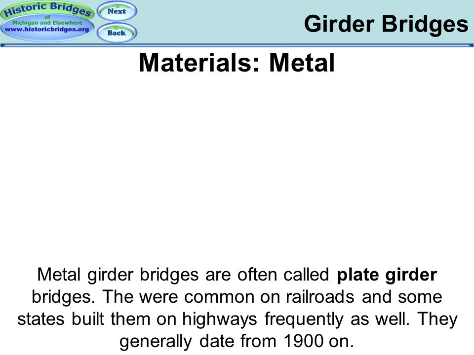 Girder Bridges - Materials