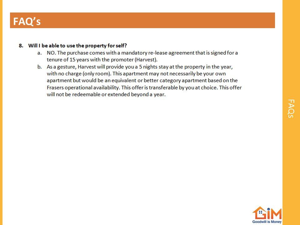 FAQ's FAQs
