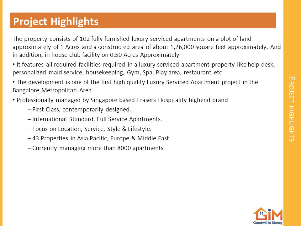 Project Highlights Project highlights