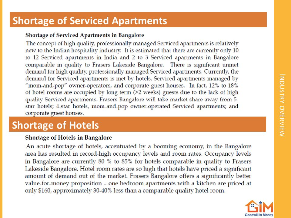 Shortage of Serviced Apartments
