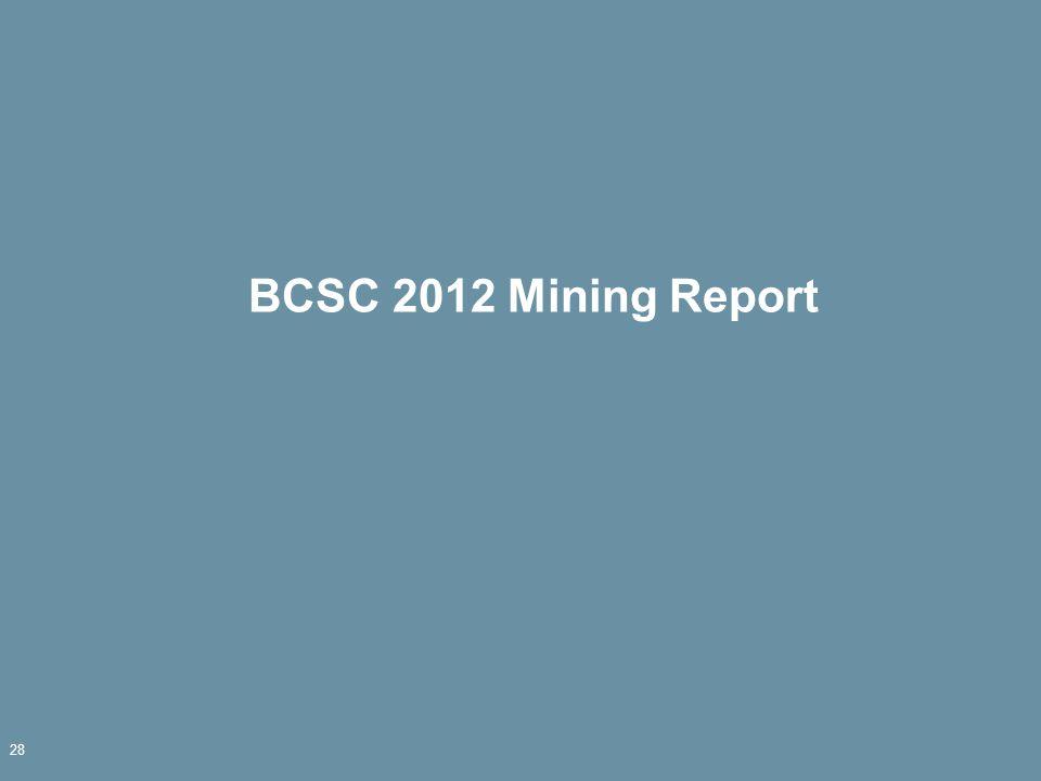 BCSC 2012 Mining Report