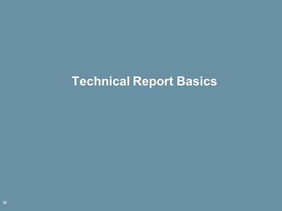 Technical Report Basics