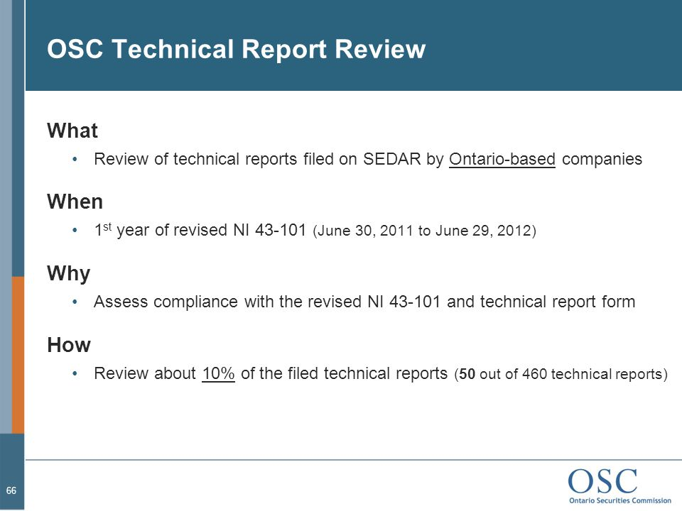OSC Technical Report Review
