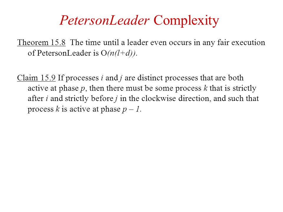 PetersonLeader Complexity