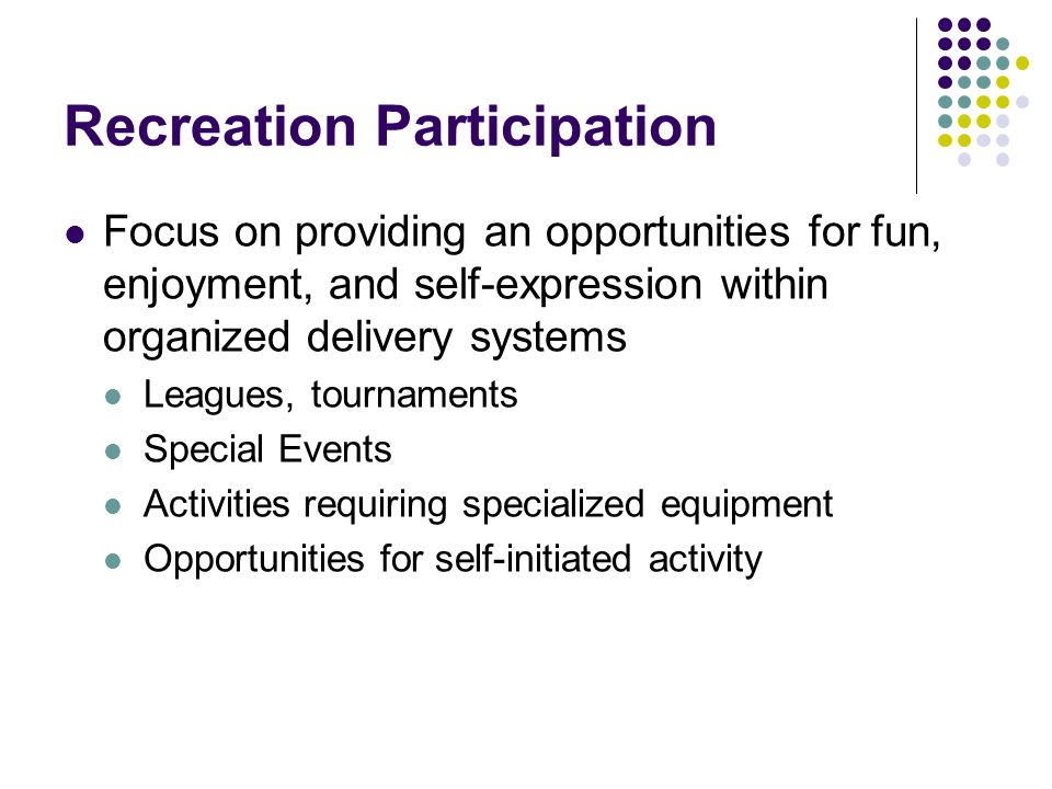 Recreation Participation