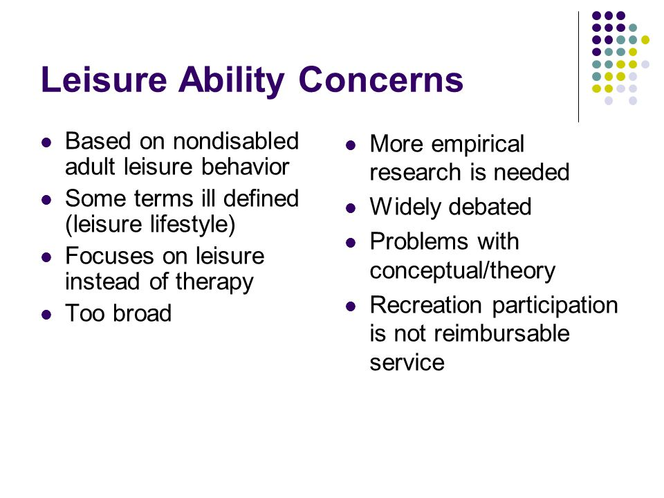 Leisure Ability Concerns