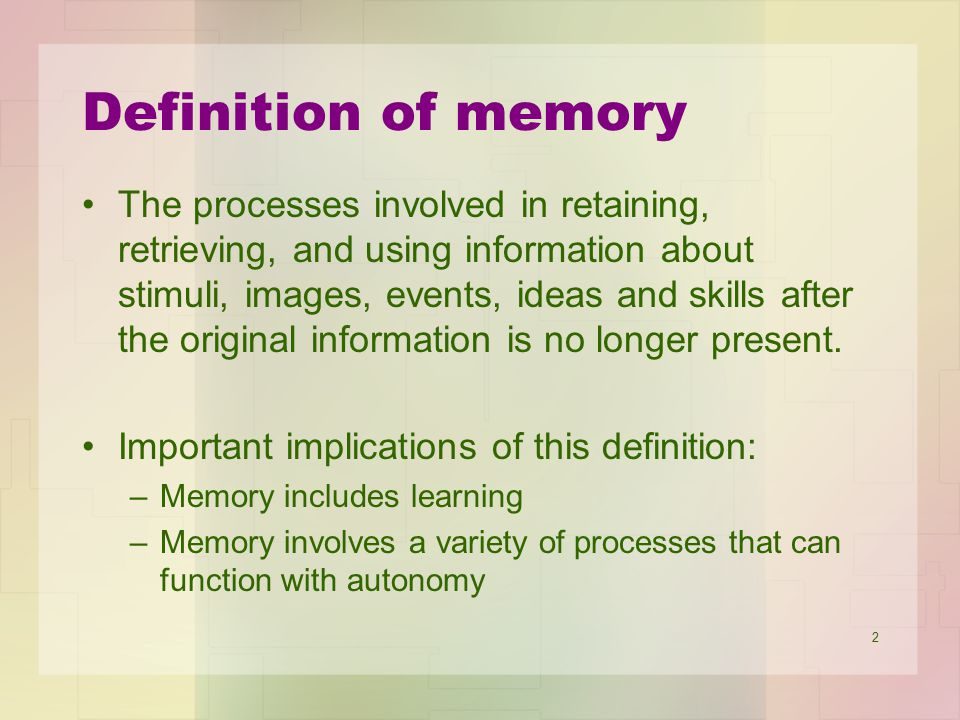 Definition of memory