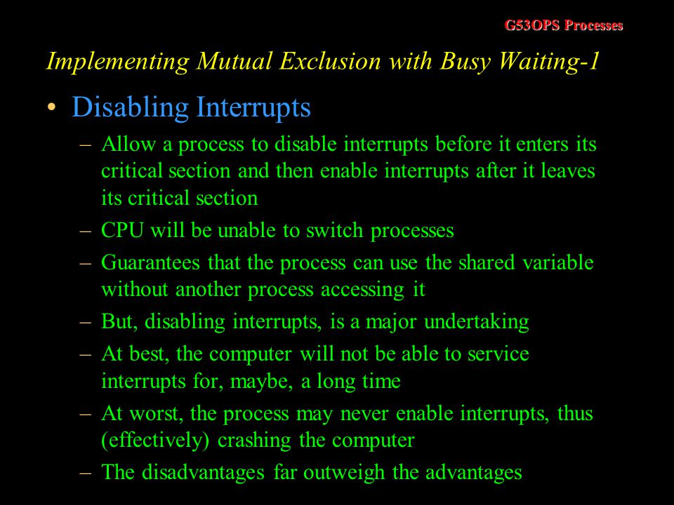 Implementing Mutual Exclusion with Busy Waiting-1