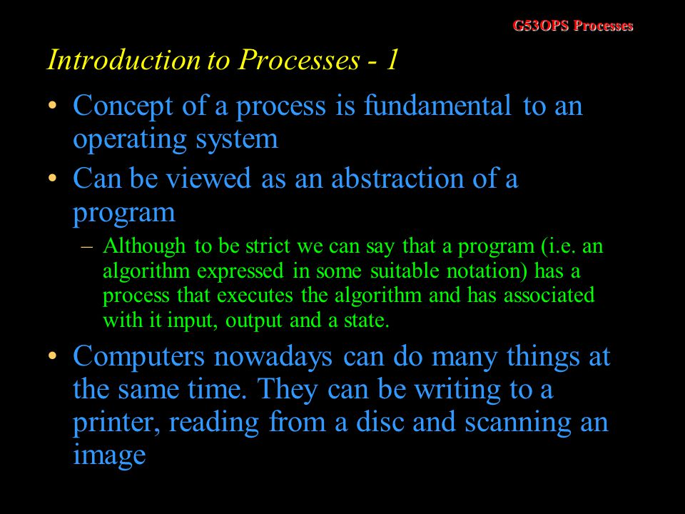 Introduction to Processes - 1