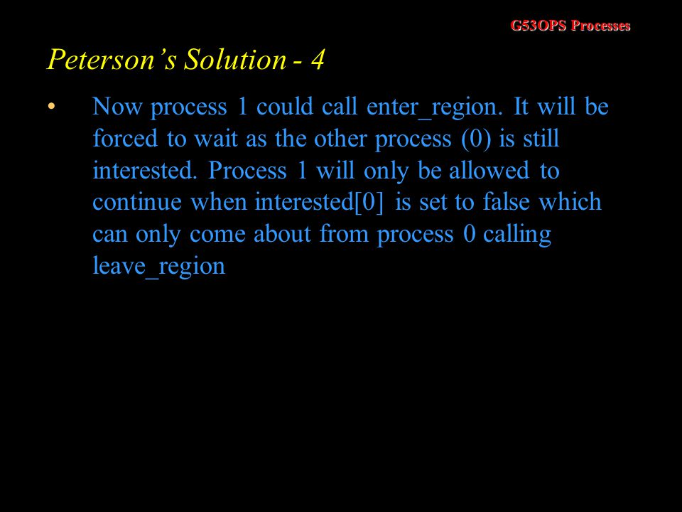 Peterson's Solution - 4
