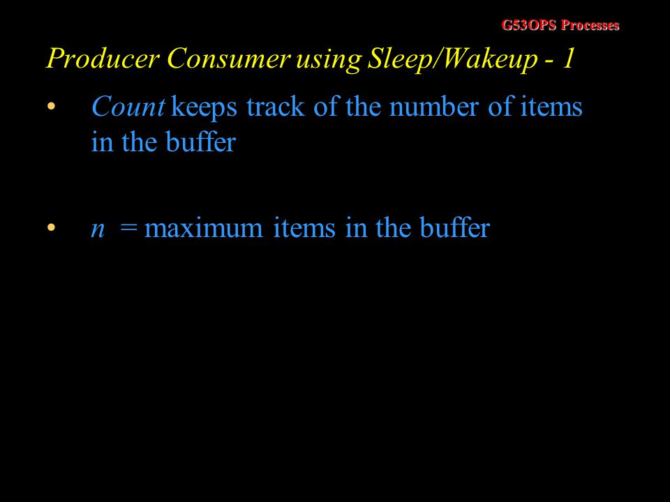 Producer Consumer using Sleep/Wakeup - 1