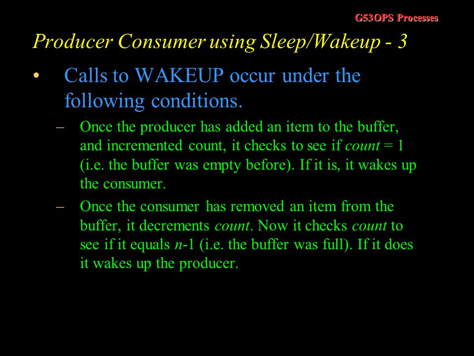 Producer Consumer using Sleep/Wakeup - 3