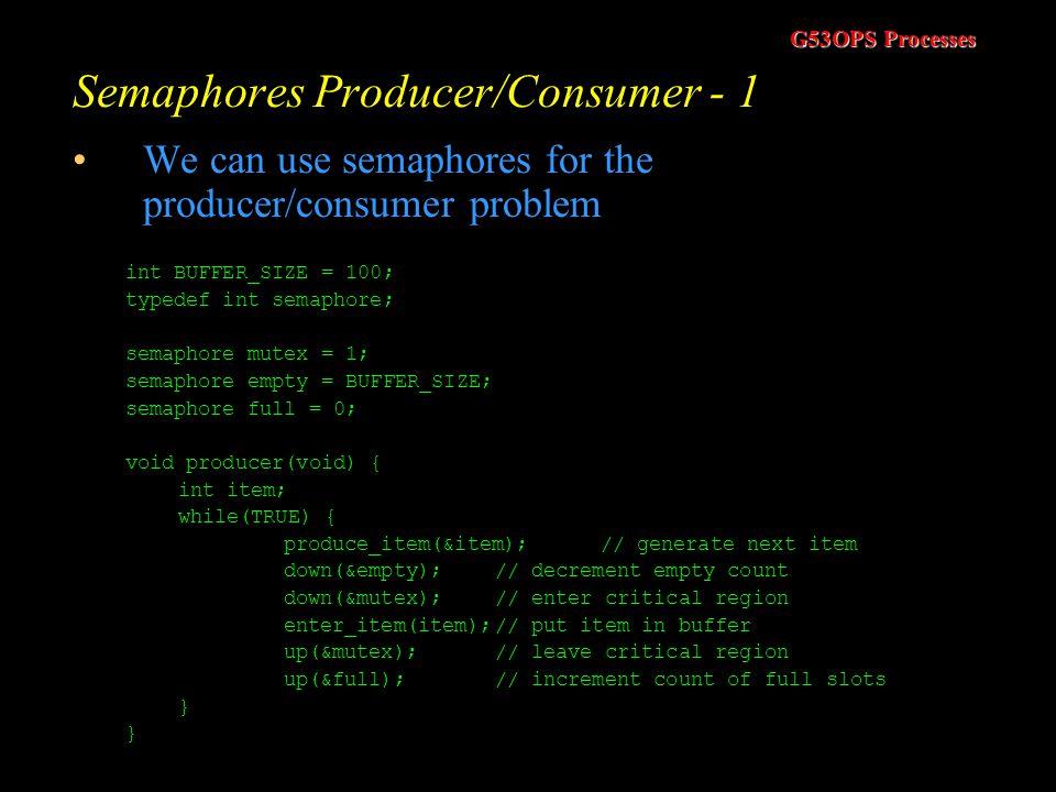 Semaphores Producer/Consumer - 1