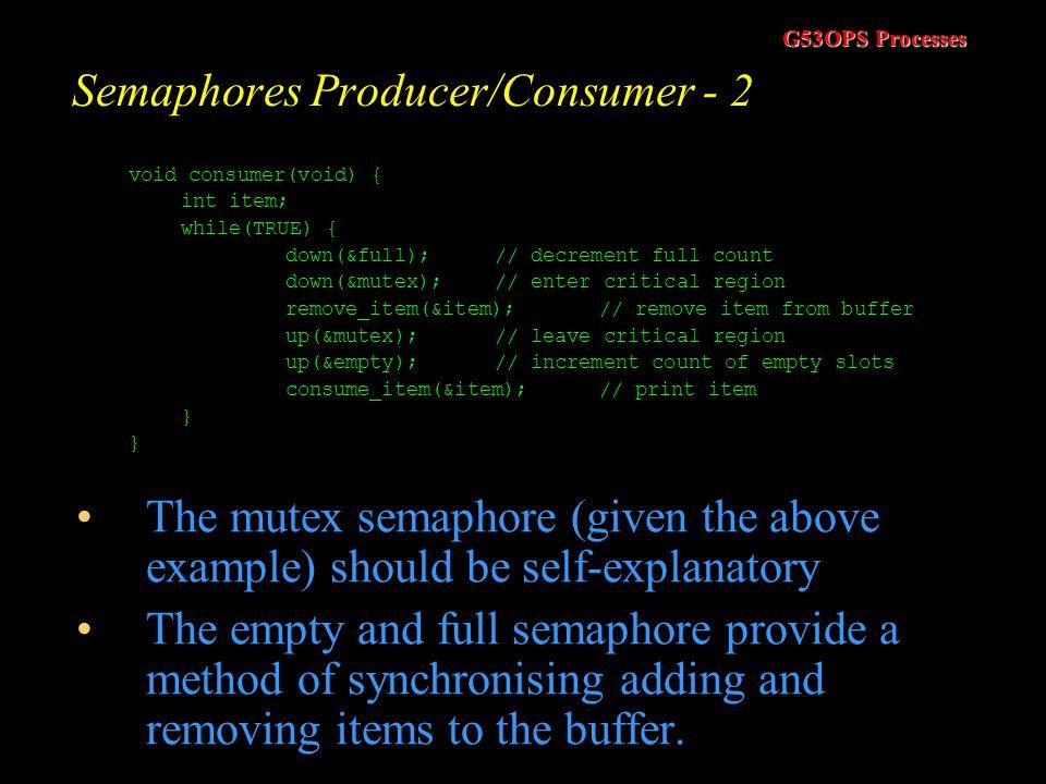 Semaphores Producer/Consumer - 2