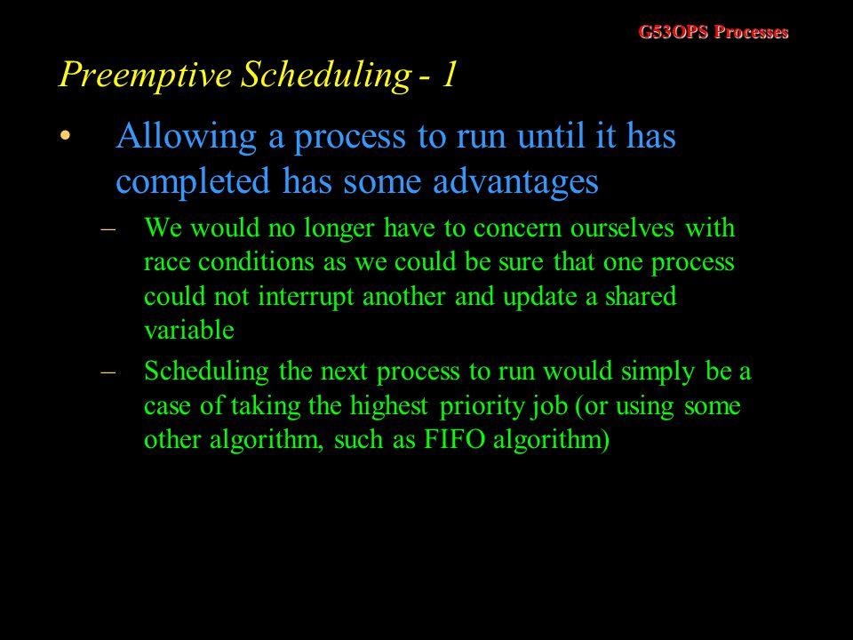 Preemptive Scheduling - 1
