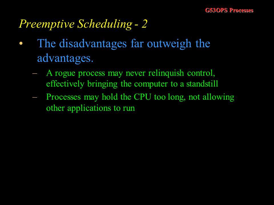 Preemptive Scheduling - 2