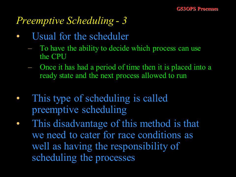 Preemptive Scheduling - 3