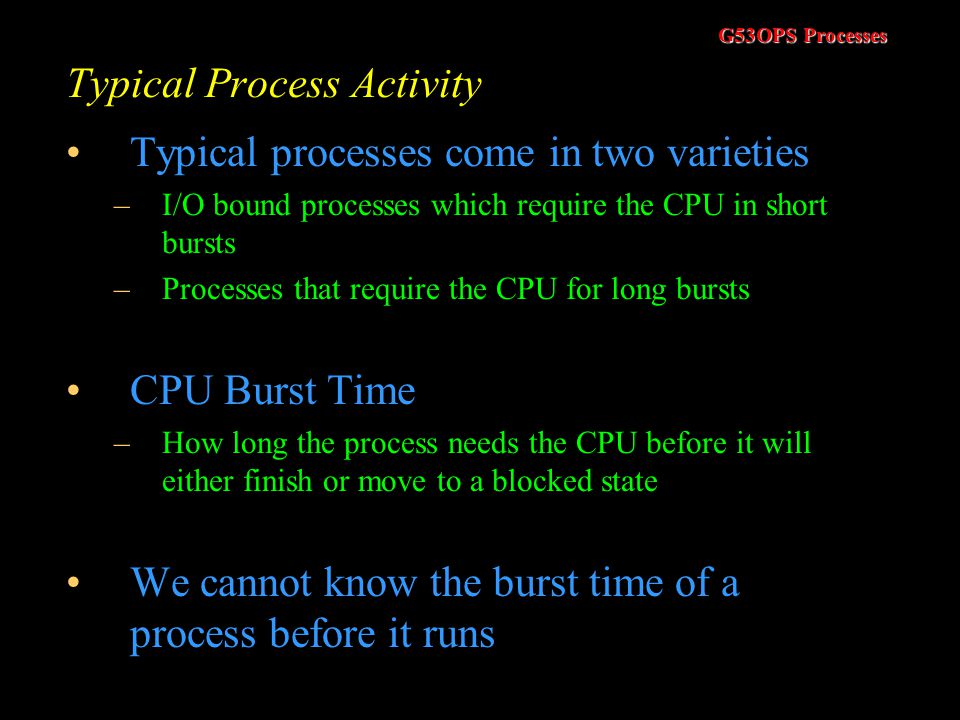 Typical Process Activity