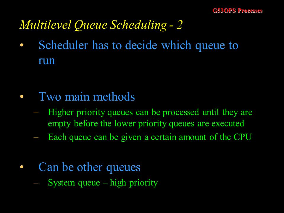 Multilevel Queue Scheduling - 2