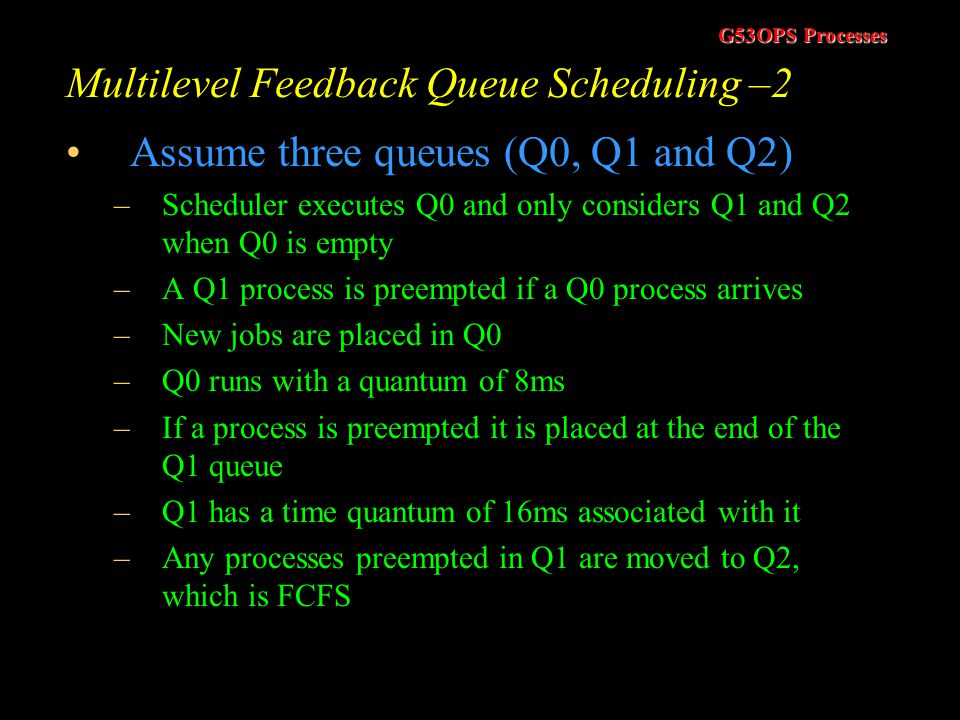 Multilevel Feedback Queue Scheduling –2