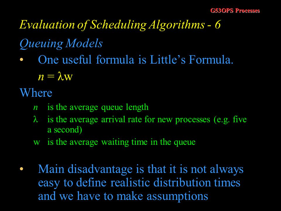 Evaluation of Scheduling Algorithms - 6