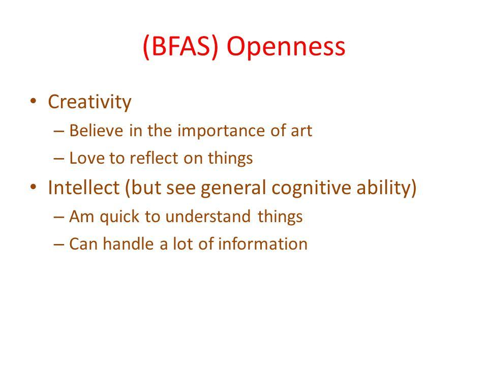 (BFAS) Openness Creativity