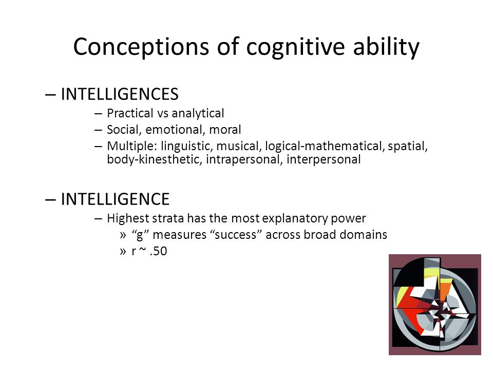 Conceptions of cognitive ability