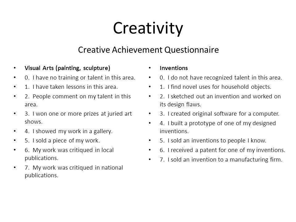 Creative Achievement Questionnaire