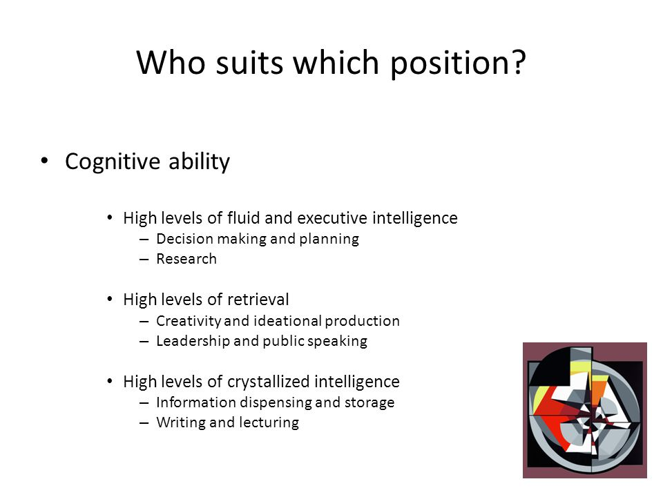 Who suits which position