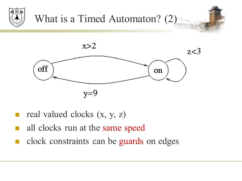 What is a Timed Automaton (2)