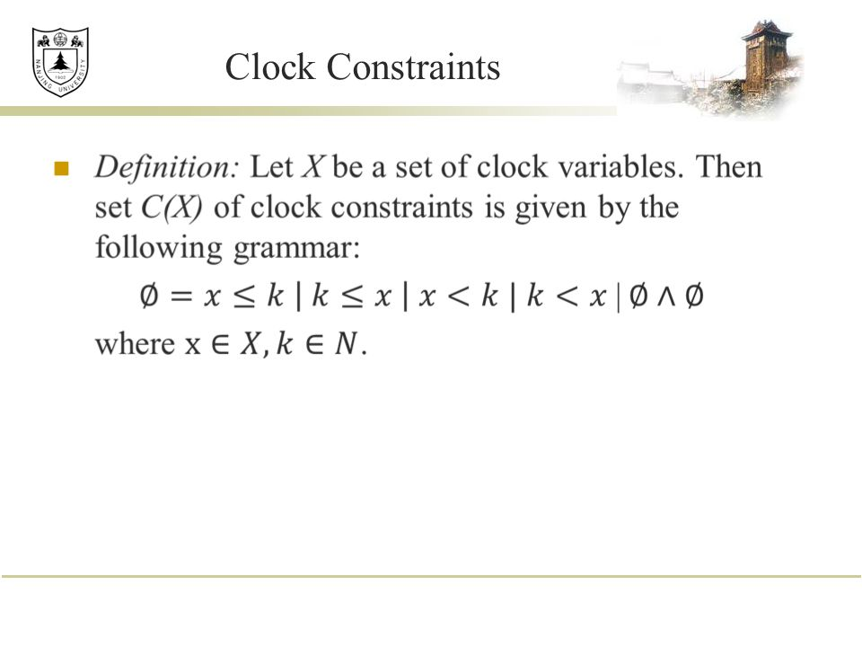 Clock Constraints