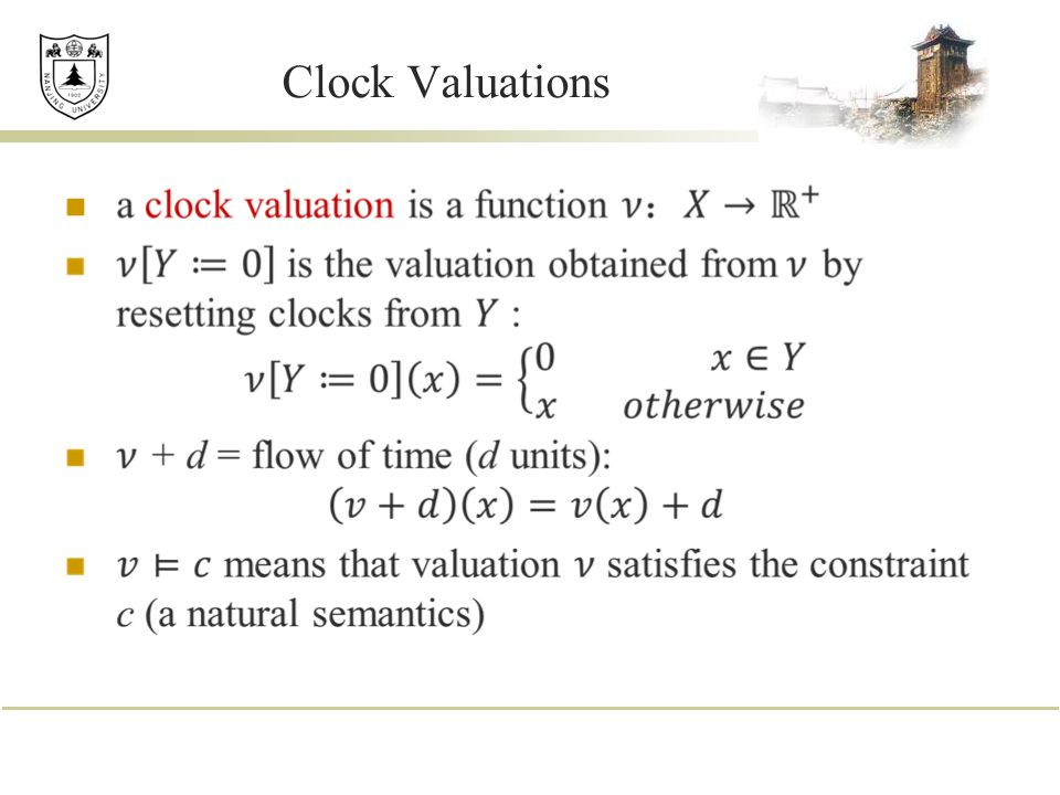 Clock Valuations
