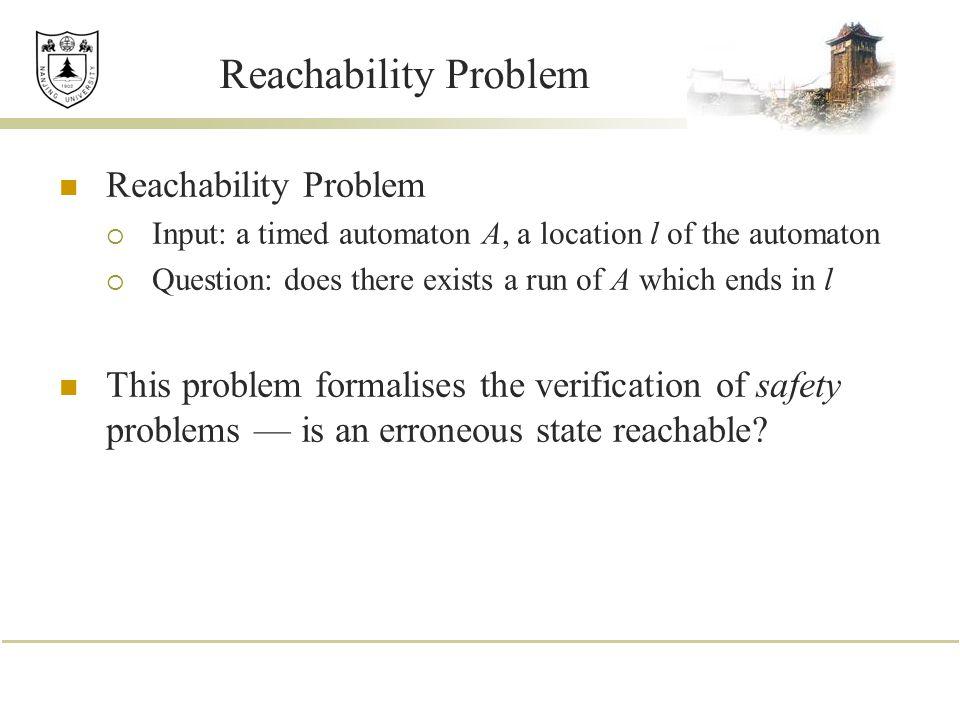 Reachability Problem Reachability Problem
