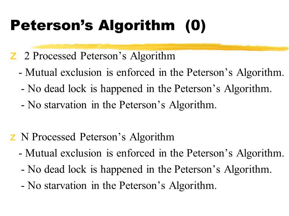 Peterson's Algorithm (0)