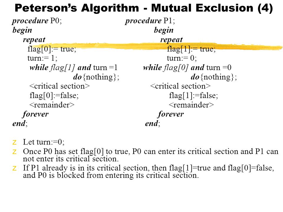 Peterson's Algorithm - Mutual Exclusion (4)