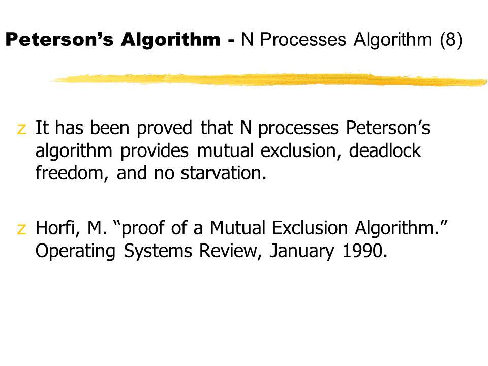 Peterson's Algorithm - N Processes Algorithm (8)