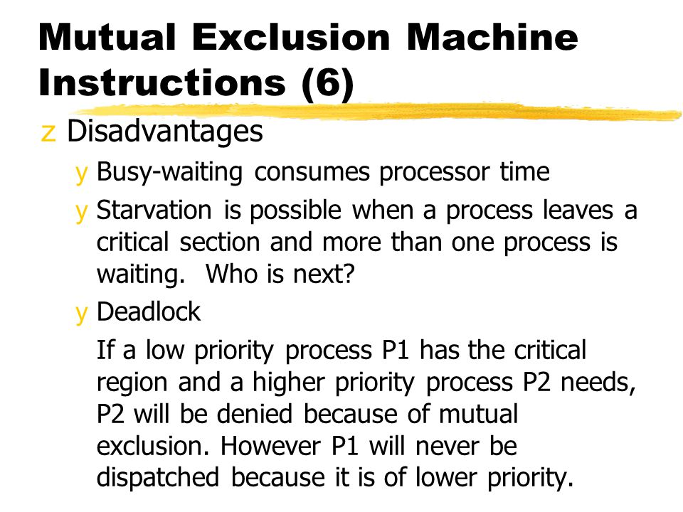 Mutual Exclusion Machine Instructions (6)