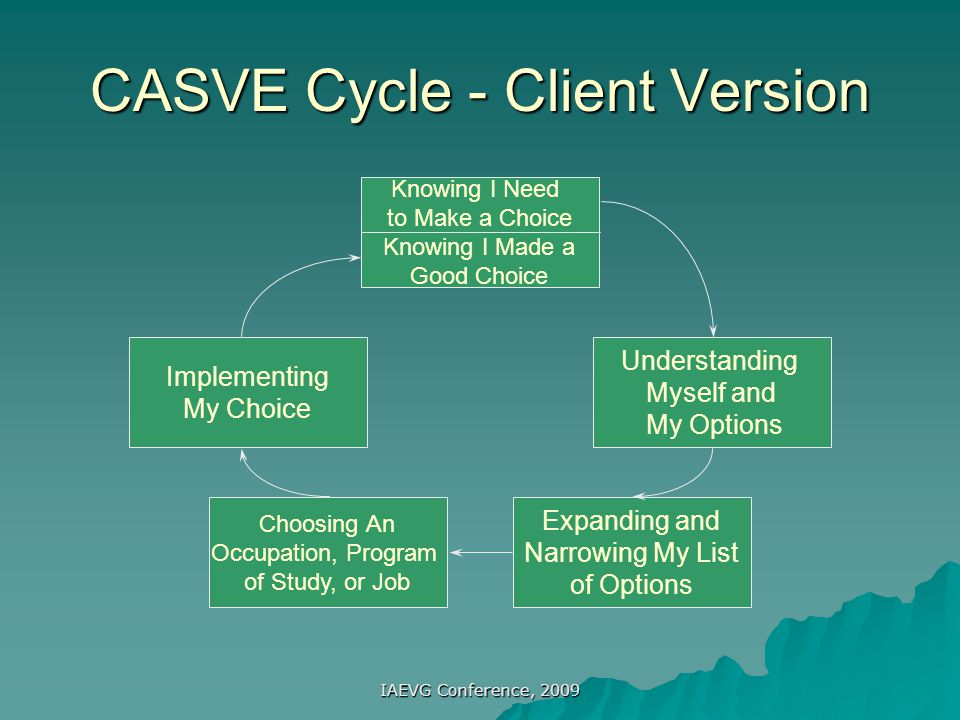CASVE Cycle - Client Version