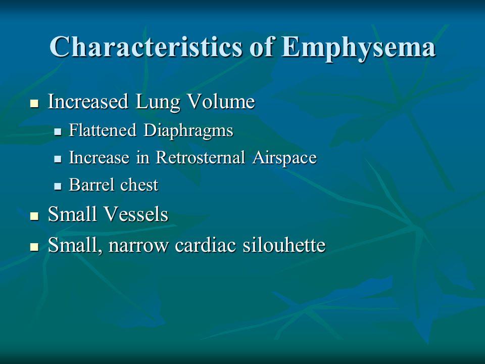 Characteristics of Emphysema