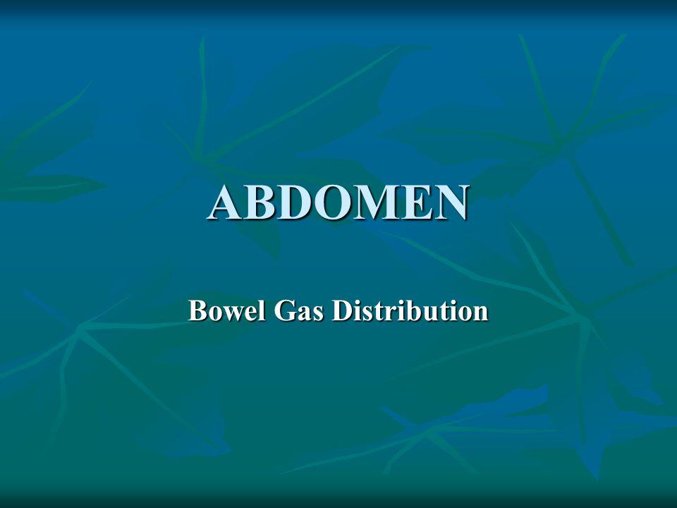 Bowel Gas Distribution