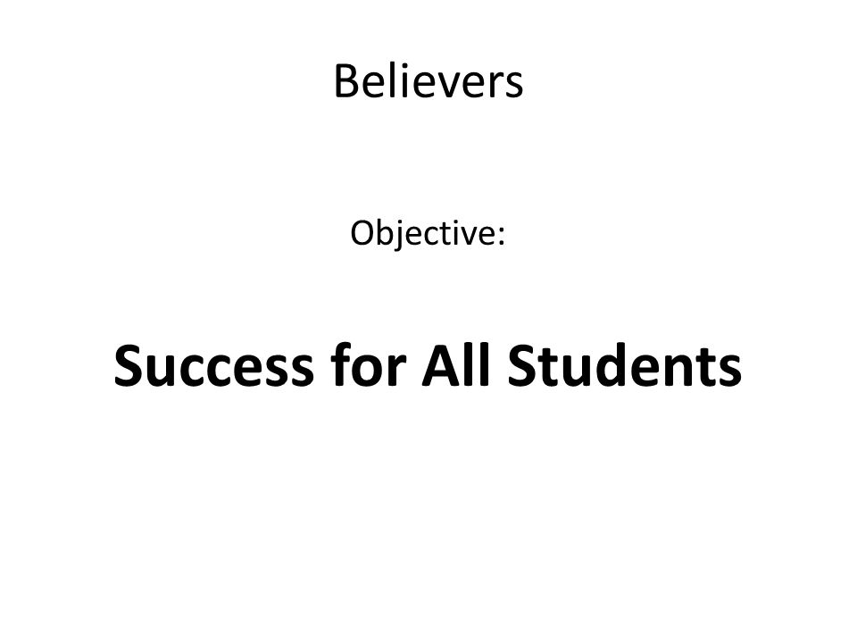 Success for All Students
