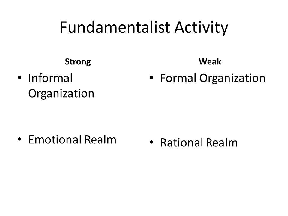 Fundamentalist Activity
