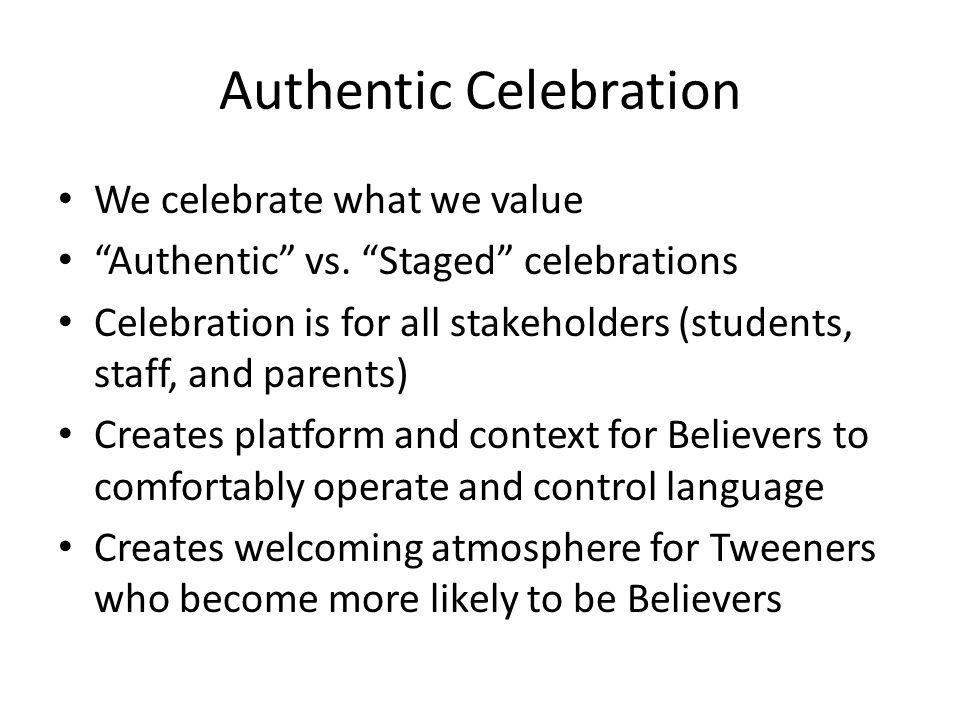 Authentic Celebration